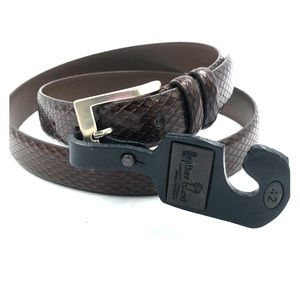Leather Island by Bill Lavin Brown Leather Belt 42